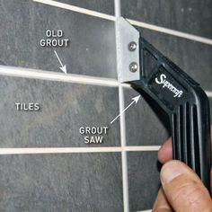 Removing old grout from bathroom tiles
