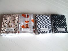 $32.99  4 Burp Cloths LIMITED EDITION using Diaper Service Quality Prefolds - Baby Accessories - New Mom Gift - Ready to Ship