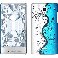 Amazon.com: Sharp Aquos Crystal Case Combo(3-items) - ZiZo(TM) Hard Case Snap-on Cover (Blue/Silver Vine)+ICE-CLEAR(TM) Screen Protector Shield(Ultra Clear)+Touch Screen Stylus: Cell Phones & Accessories