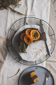 Chocoladetaart met sinaasappel en rozemarijn
