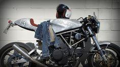 Suicide Alu by LuisMoto Inazuma Cafe Racer, Ducati Cafe Racer, Cafe Racer Helmet, Cafe Racer Girl, Cafe Racer Bikes, Cafe Racer Motorcycle, Motorcycle Helmets, Women Motorcycle Quotes, Cafe Racer Magazine