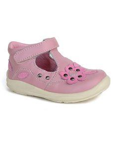 Pink Zoe T-Strap Shoe