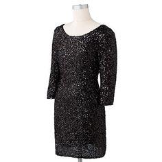 LC Lauren Conrad Sequin Sheath Dress