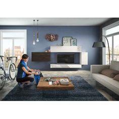 composition rangements muraux, living meuble tv, écran tv miroir ... - Composition Meuble Tv Design