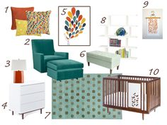 Peacock Nursery - translate for Master Bedroom