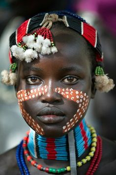 Young girl from the Hamer tribe in the south Omo region of Ethiopia