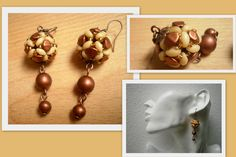 Kuličky ze superdua a pohanky - pinch beads and Superduo Beading, Pearl Earrings, Pearls, Jewelry, Beads, Pearl Studs, Jewlery, Jewerly, Schmuck