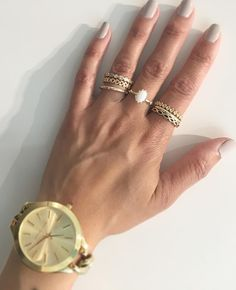 Elegant gold PANDORA rings #BeCharming #pandorarings available at www.BeCharming.com