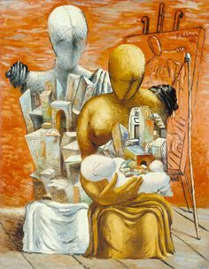 20 x 24 inches - Reproduction artist: Giorgio de Chirico - - Make to order - oil on canvas painting art - Gift idea by ChiangPaintingArt on Etsy Art Visionnaire, Art Terms, Magic Realism, Traditional Paintings, Italian Artist, Visionary Art, Fantastic Art, Surreal Art, Oeuvre D'art