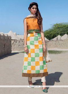 Multi Colour Tafeta Silk Party Wear Kurti Model: YOKU945