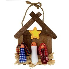 Celebrate the reason for the season with this wooden Nativity ornament craft kit! Bring your Sunday School group or tree trimming troupe together to make these inspirational decorations! Hang these me