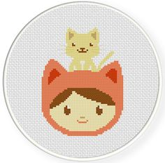 My+Pet+Kitty+PDF+Cross+Stitch+Pattern++Instant+Download+