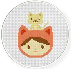 My Pet Kitty PDF Cross Stitch Pattern  Instant Download
