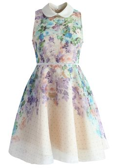 6a3234843ba Romantic Garden Organza Peter Pan Collar Dress