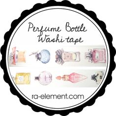 Perfume bottle washi tape for sale at Ra Element!