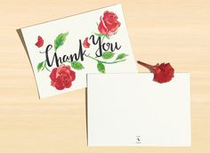 Thank You Roses Postcard, Set of 6