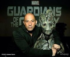 Vin Diesel Poses with Guardians of the Galaxy's Groot