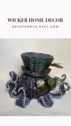 by SpletuKota Steampunk Home Decor, Steampunk House, Works With Alexa, Nursery Furniture, Cozy House, Wicker Baskets, Etsy Seller, Storage Solutions, Handmade