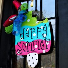 Popsicle summer door hanger ice cream