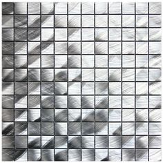 Aluminum Mosaic Tile Brushed 1x1 is made out of 100% aluminum in a circular brushed finish and mesh mounted for easy installation. This product is suitable for kitchen backsplash, bathroom walls, and any interior vertical surface. Each individual tile measures 1x1. This product is sold by the sheet. Each sheet measures 12x12.