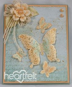 Heartfelt Creations | Peach Butterflies And Blooms
