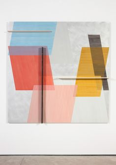 Toby Paterson. Ten Degrees, 2014, Acrylic, pencil and wood on aluminium, 180 x 180 x 3 cm