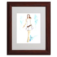 White a Sight by Jennifer Lilya Matted Framed Painting Print