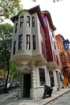 Residential house facades in Istanbul # turkey Places Around The World, The Places Youll Go, Places To See, Around The Worlds, Beautiful Architecture, Beautiful Buildings, Art And Architecture, Residential Architecture, Hagia Sophia