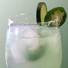 Cucumber Jalapeño Margarita - From: Lonesome Dove Bistro, Fort Worth, TX  To make: muddle 1 slice of jalapeño and 1 slice of cucumber with 1 tablespoon agave nectar in a cocktail shaker. Add 2 ounces Cointreau, 2 1/2 ounces silver tequila, and the juice from 1/2 a lime. Shake it up over ice and strain into a salt-rimmed glass. Garnish with the jalapeño and cucumber.