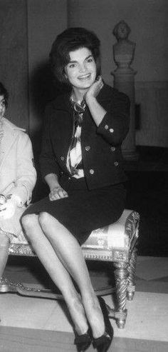Not only did she have a sense of style that influenced America for decades. She had style of herself. Always impeccable manners and posture. I'm sure by the time she enrolled at Miss Porter's School she way ahead in that area. Jackie & Lee's mother taught them such things starting at a very early age.