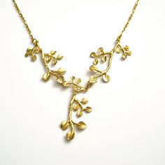 Branch necklace Gold branch necklace  Golden by cloud9originals, $45.00