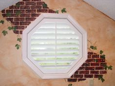 Octagon Window Plantation Blinds Benches Faux Wood Diy