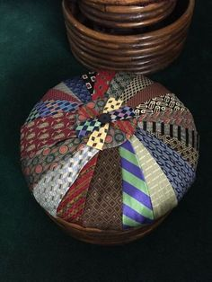 hubby had a stash of ties after he retired till i got my hands on them, painted furniture, repurposing upcycling