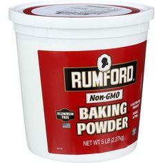Rumford Rumford Baking Powder (Non Aluminum) - 5 lbs. -- Check this awesome product by going to the link at the image. Gmo Facts, Star Wars, Sodium Bicarbonate, Corn Starch, Baking Ingredients, Coffee Cans, Gourmet Recipes, Canning