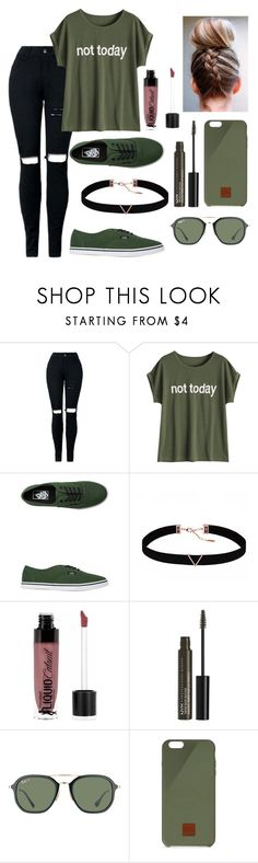 """Not today"" by cassieq6929 ❤ liked on Polyvore featuring Vans, Astrid & Miyu, Wet n Wild, NYX, Ray-Ban and Native Union"