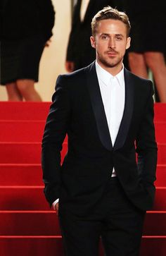 "Ryan Gosling walks the red carpet at the 2014 Cannes Film Festival for his directorial debut of ""The Lost River"". Michael Fassbender, Mode Masculine, Christina Aguilera, Gorgeous Men, Beautiful People, Kevin Spacey, Colin Firth, James Mcavoy, Jake Gyllenhaal"