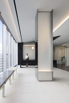 House Tips And Strategies For eco friendly office design Office Space Design, Office Interior Design, Office Interiors, Interior Design Living Room, Design Bedroom, Interior Columns, Interior Lighting, Interior Architecture, Ceiling Design