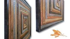 Original Reclaimed Wood Art by Alley Cat Design Studio Catherine and Alan Moore A Good Harvest Reclaimed Wood Quilt Block Artwork 2016 Rustic - Modern – Contemporary Wood Quilt Wall Art Reclaimed Rough Sawn Cedar Fencing Material and Weathered Gray Barn Wood 32 x 32 x 1 3/8 In