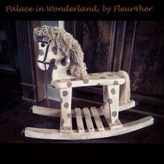 Vintage rocking horse, Annie Sloan Chalk Paint, dark wax, fleur4her, Palace in Wonderland