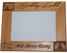 Racing Frame. Add your team name or sponsor and give as an amazing gift. Personalized Engraved Motorsports Racing by EngravedEffects, $20.00