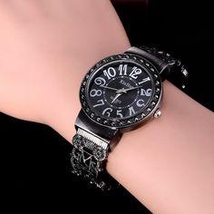 Hot Sale Retro Bracelet Watches Women Watches Luxury Rhinestone Ladies  Watch Fashion Wrist watches    24f018abc1