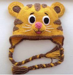 Daniel Tiger crochet hat. No pattern but super cute!