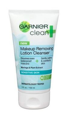 Garnier Skin Clean Plus Makeup Removing Lotion Cleanser, Sensitive Skin, 5 Fluid Ounce (Pack of Garnier Clean Make-Up Removing Lotion Cleanser 5 oz. - Dissolves Even Waterproof Mascara. Calms And Comforts Skin. No Alcohol, Dye Or Oil. For Sensitive Skin Natural Makeup Remover, Best Makeup Remover, Diy Beauty Care, Beauty Tips, Beauty Stuff, Lotion, Cleanser For Oily Skin, Face Cleanser, Natural Exfoliant
