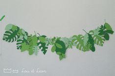 PAPER GARLANDS - TROPICAL (template free download)