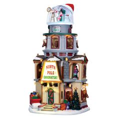 Lemax North Pole Observatory SKU# 65132. Released in 2016 as a Sights and Sounds piece for the Santa's Wonderland Collection.