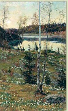 Eugen Bernadotte  spring. I spent many happy days at Waldemarsudde. If Prince a Eugen had been only a painter he surely would have had a fine career.  This is my favorite of all. JC