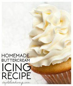 Need the perfect homemade buttercream icing recipe for your next birthday cake or the cupcakes you are making? It is my go to for birthday parties! Homemade Buttercream Icing, Frosting Recipes, Cake Recipes, Dessert Recipes, Vanilla Frosting, Icing Recipe For Cupcakes, Crisco Frosting, Best Icing Recipe, Chocolate Buttercream