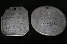 1809 Carriboo Plantation S.Carolina Slave Tags by pasttimejewelry