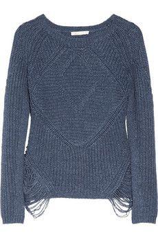 Maje Aero cutout-side knitted sweater | NET-A-PORTER