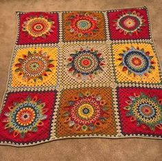 Spinning Top Square - - Free Crochet Pattern - A blog about crochet, colour with lots of free patterns